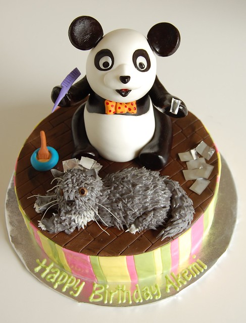 Akemi's Birthday Cake - Panda giving Simba highlights