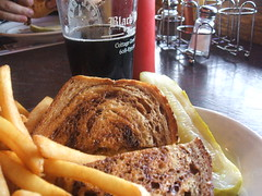 Reuben, fries and root beer