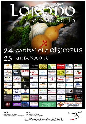 Zas 2012 - Festas do Apóstolo en Loroño - cartel