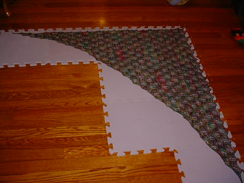 Emily shawl blocking