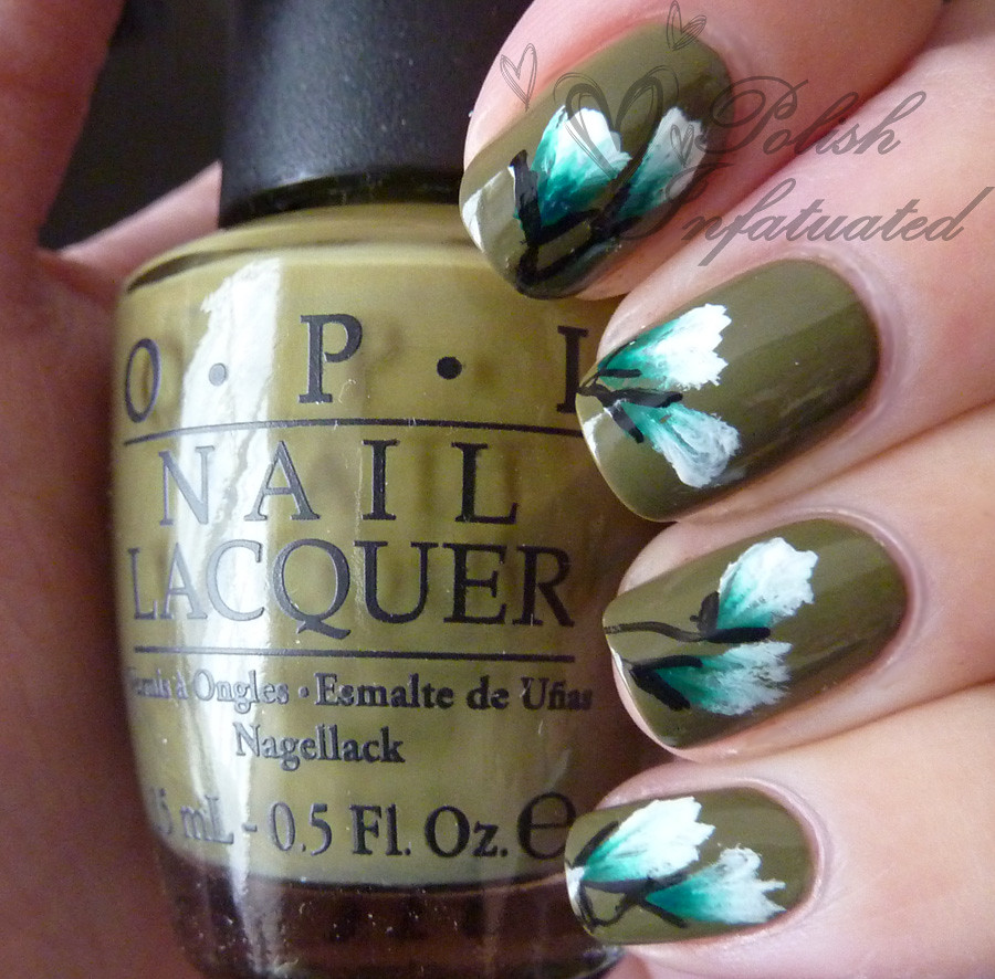 khaki one stroke flower2
