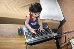 The Blogger Is Born - Nerjis Asif Shakir 1 Year Old by firoze shakir photographerno1