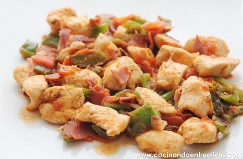 Pollo con pimientos Prodieta (1)