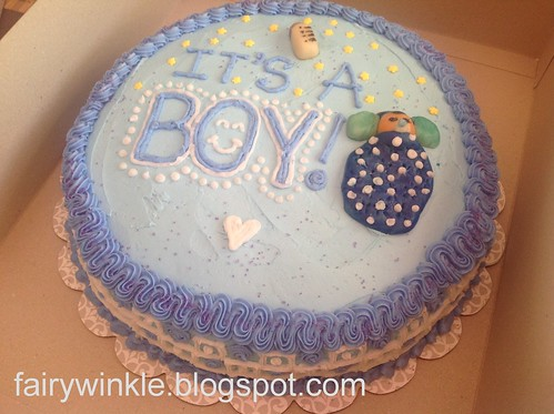 Boxed baby shower cake