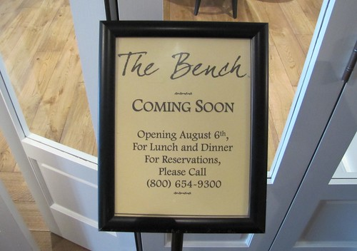The Bench officially opens August 8, 2012