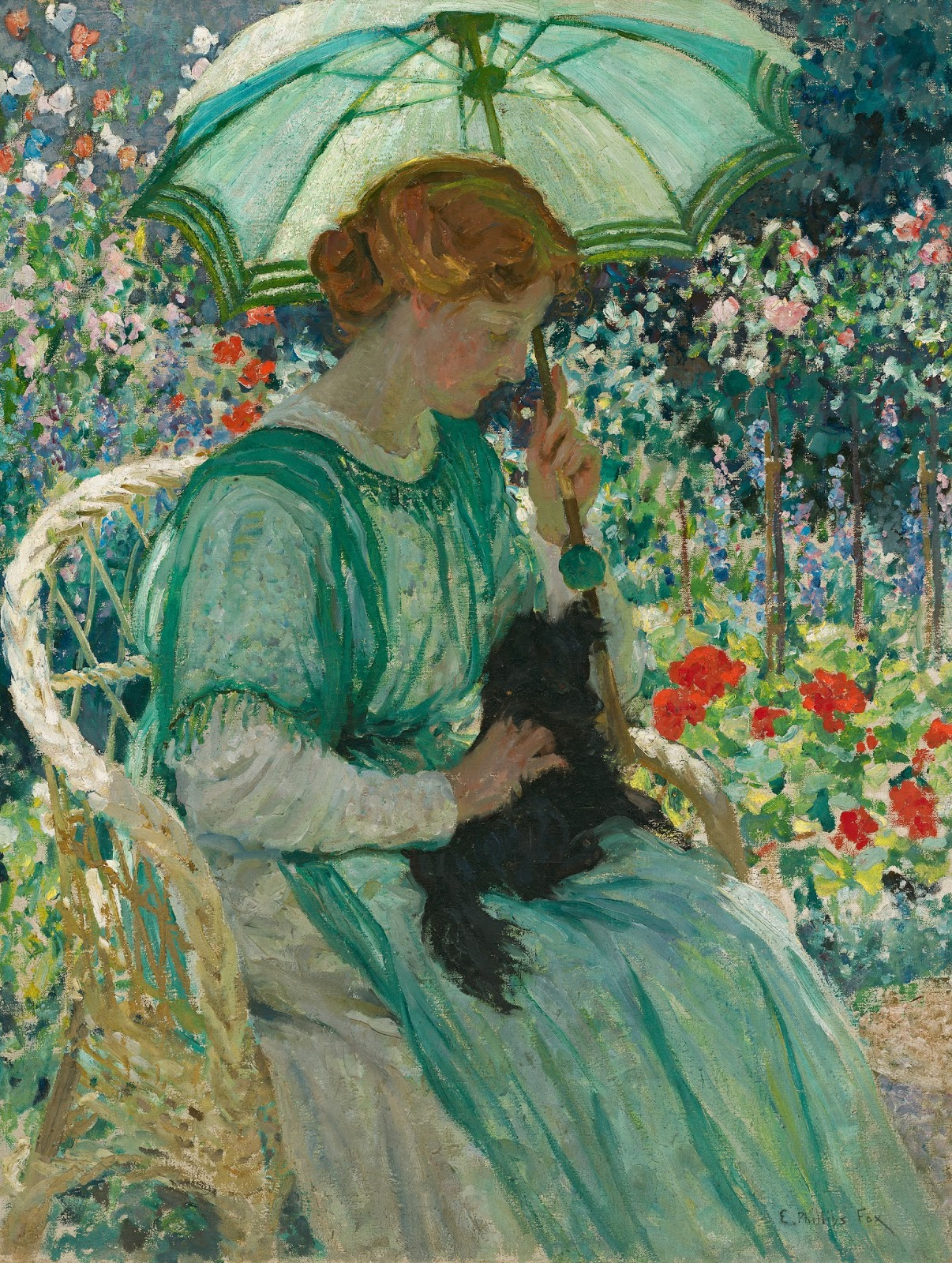 The green parasol by Emanuel Phillips Fox, 1912