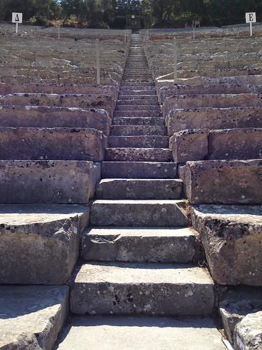 2016 argolis epidaurus greece steps theatre