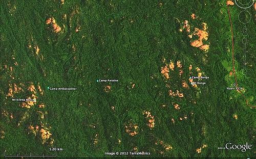 Google map closeup of Nzaro secteur