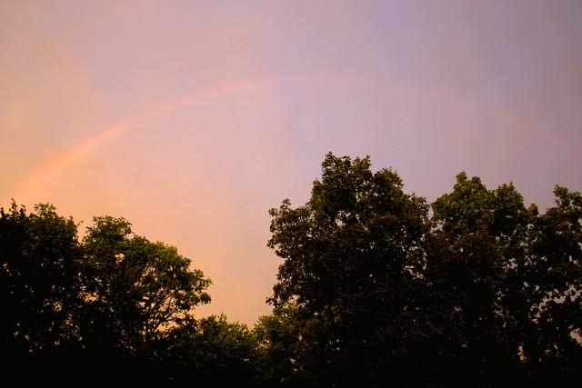 a rainbow, august 6th, 2010.