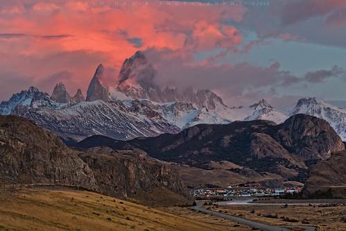travel patagonia southamerica argentina sunrise fitzroy helminadia