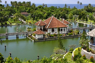 Obraz Taman Ujung Water Palace. bali indonesia