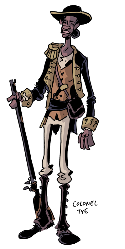 Colonel Tye, a Loyalist, of the Black Brigade, from the upcoming CROGAN ADVENTURES story by Chris Schweizer