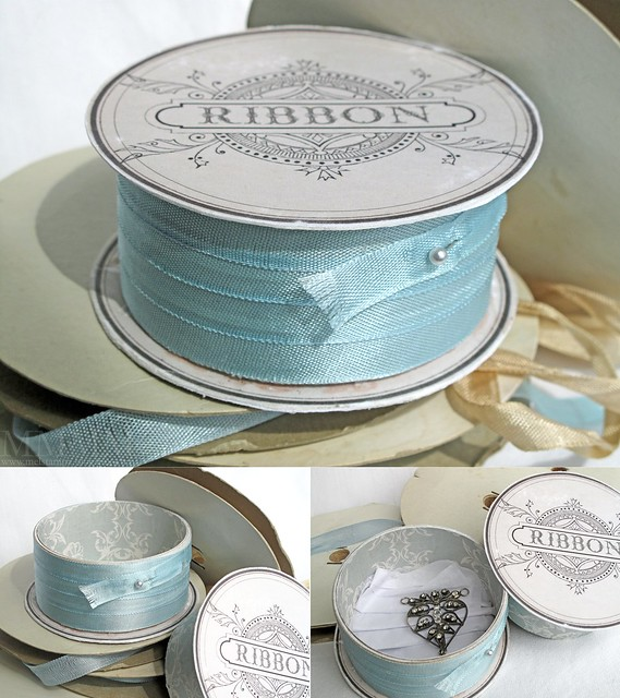 PCP 3Dround challenge - faux ribbon spool with hidden compartment - mel stampz copy