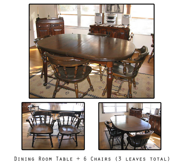 Ethan Allen: Dining Room Table + 6 Chairs + 3 Leaves | Flickr ...