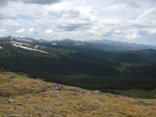 Scrambling up Chapin Peak, Rocky Mountain National Park, Colorado