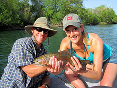 Anthony treats Heather to her first day fly fishing, Wow!