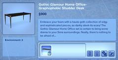 Graphophobic Shudder Desk