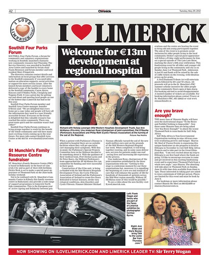 I Love Limerick Chronicle Column 29 May 2012 Page 1