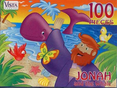 "VISTA PUZZLES :: ""JONAH and the Whale"" - 100 Piece Jigsaw Puzzle { Art by Hatten & Brown } (( 199x ))"