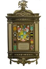 <p>Rouwbord van Joan Gideon Loten, zoals dat in de Jacobikerk gehangen heeft.</p>