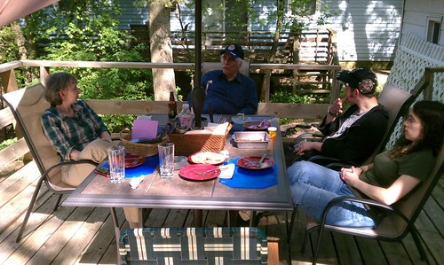 Ptw Jenn's family on our deck for Mother's day