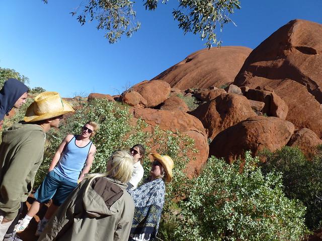 The Big Outback Adventure winners at Uluru, base walk
