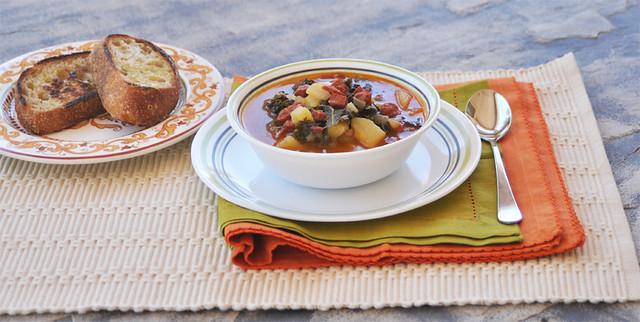 Kale Soup with Potato and Chorizo