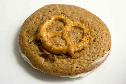White Chocolate Pretzel Peanut Butter Cookie