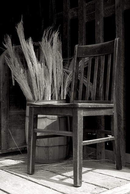 Chair and Broom Corn