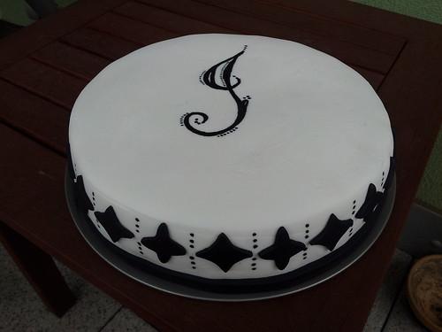 černo-bílý dort