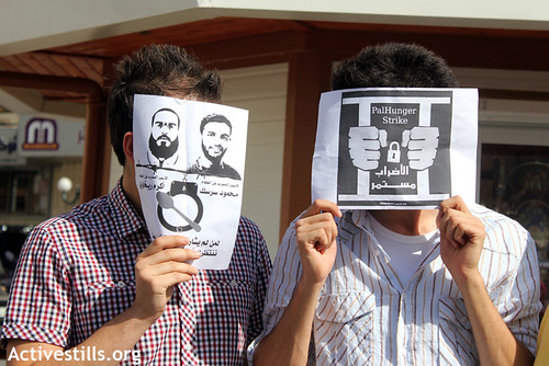 Demonstration for Palestinian prisoners, Nablus, West Bank, 03.06.2012