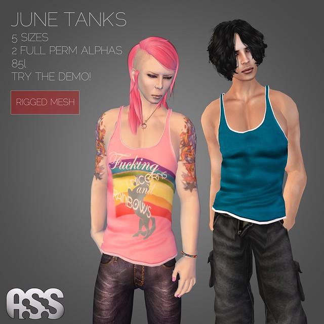 A:S:S - June tank tops (MESH)