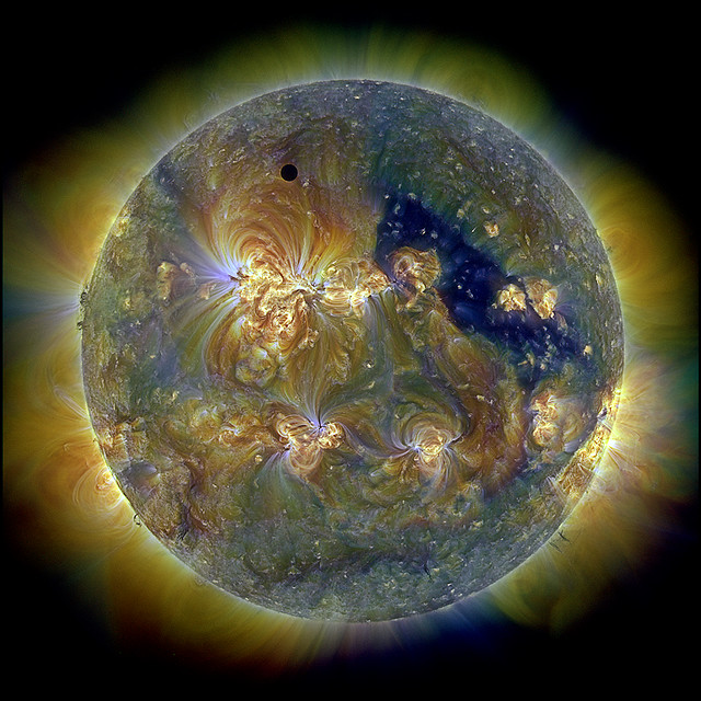 Sun and Venus as seen by SDO