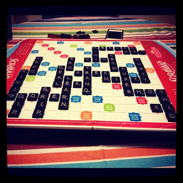 Scrabble with the husband.
