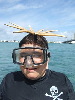 Brett with a cool starfish hairdo.