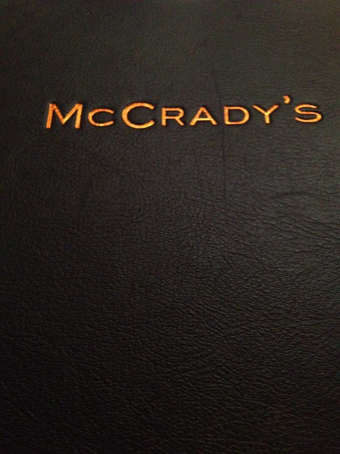 McCrady's menu cover
