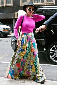 Beyonce Maxi Skirt Celebrity Style Women's Fashion