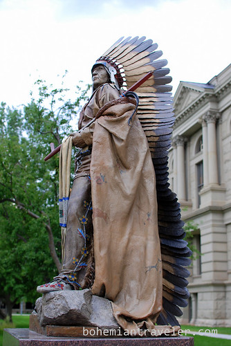 outside the Wyoming State House (4)