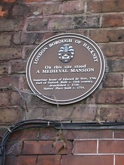 Photo of Edward de Vere brown plaque