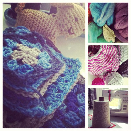 I saw the AC repairman's face & for the 1st time, I realized: I have a LOT of fiber art.