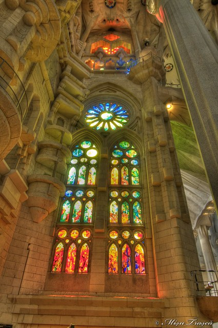 lights of Sagrada Familia
