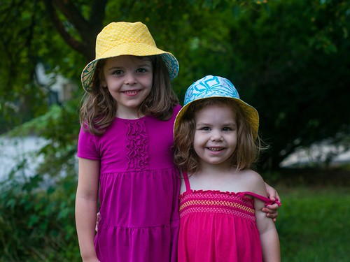 A cute pair of hats…and girls