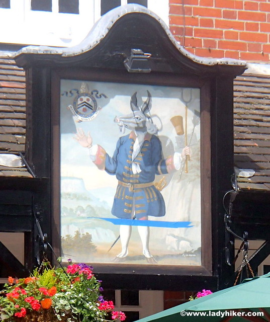 The Trusty Servant pub sign, Minstead