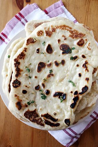 buttery garlic naan.