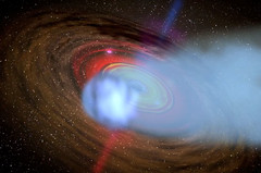 Comet-shaped cloud eclipsing an AGN black hole