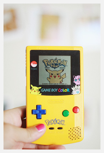 gameboy yellow by Gaby J Photography