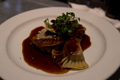 Braised Short Rib Pierogies at Braddock's American Brasserie Streetside Bar