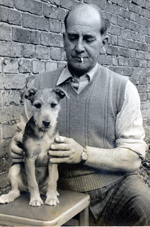 DOG ON A STOOL 1950s