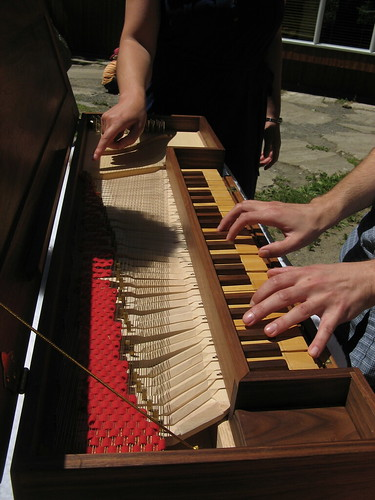 Close-up of Clavichord