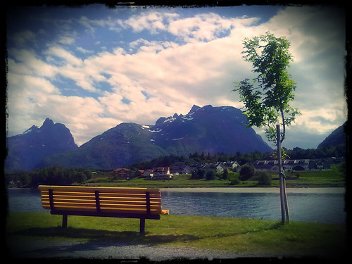 nature norway bench andalsnes